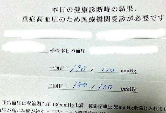 血圧の結果